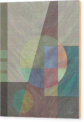 Circular Wood Print by Gordon Beck