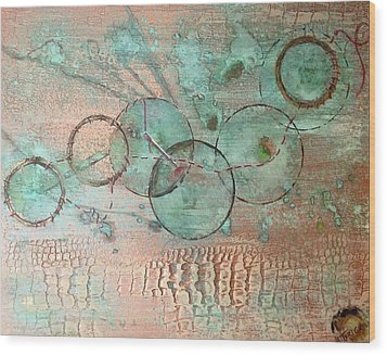 Circumnavigate Wood Print by T Fry-Green