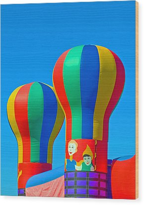 Circus In The Sky - Three Wood Print by Allan  Hughes