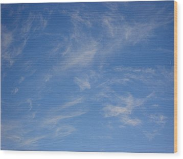 Cirrus Clouds Wood Print