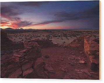 Citadel Sunset Wood Print by Mike  Dawson