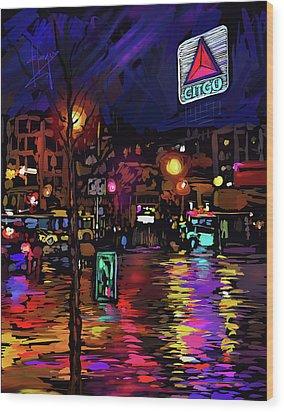 Citgo Sign, Boston Wood Print by DC Langer
