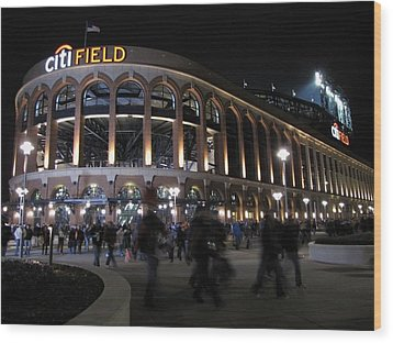 Citi Field Opening Night 2009 Wood Print by Peter Aiello