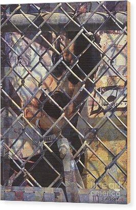 cities ghetto girl photography - Mona Lisa Wood Print by Sharon Hudson