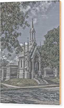 Cities Of The Dead Wood Print by Janice Spivey