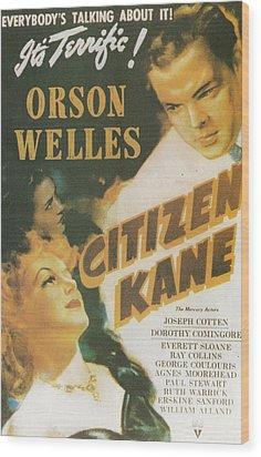 Citizen Kane - Orson Welles Wood Print by Georgia Fowler