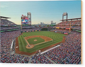 Citizens Bank Park - Philadelphia Phillies Wood Print by Mark Whitt