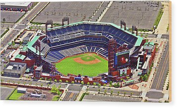 Citizens Bank Park Phillies Wood Print by Duncan Pearson
