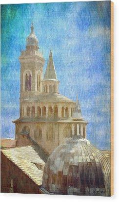 Citta Alta From Above Wood Print by Jeffrey Kolker