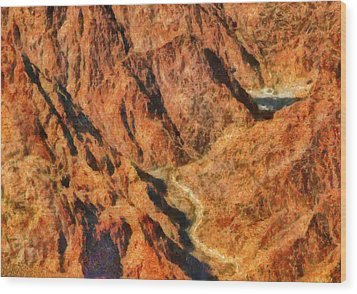 City - Arizona - Grand Canyon - A Look Into The Abyss Wood Print by Mike Savad