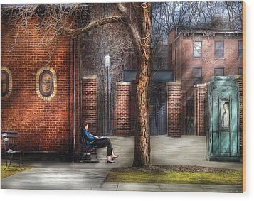 City - Newark Nj - Always Waiting  Wood Print by Mike Savad