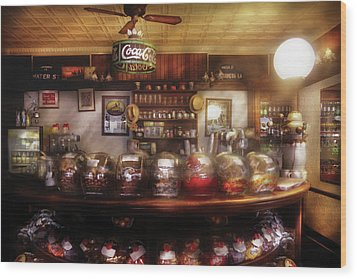 City - Ny 77 Water Street - The Candy Store Wood Print by Mike Savad