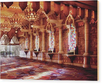 City - Vegas - Excalibur - In The Great Hall  Wood Print by Mike Savad