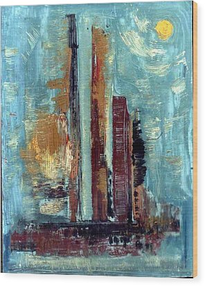 City Abstraction Wood Print by Anand Swaroop Manchiraju