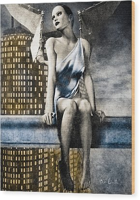 City Angel -2 Wood Print by Bob Orsillo