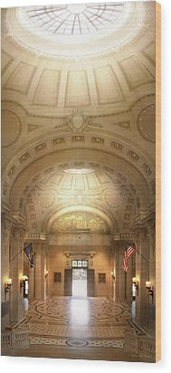 Wood Print featuring the photograph City - Annapolis Md - Bancroft Hall by Mike Savad