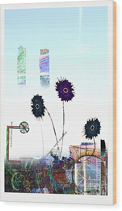 City Blooms Wood Print by Andy  Mercer