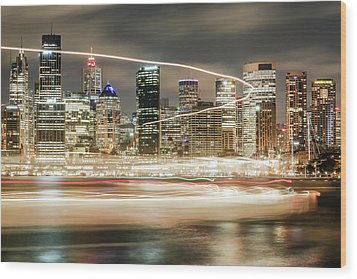City Blur Wood Print