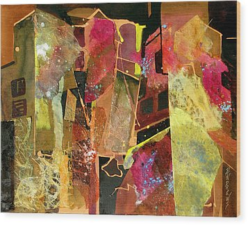 City Colors Wood Print by Rae Andrews