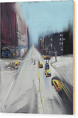 City Contrast Wood Print by Russell Pierce