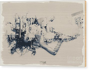 City Girl Dreaming Wood Print