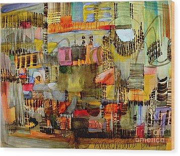 City Life  Wood Print by Nancy Kane Chapman