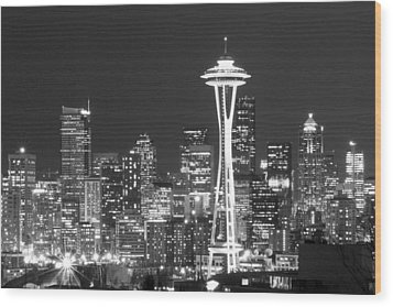 City Lights 1 Wood Print by John Gusky