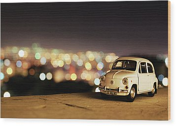 City Lights Wood Print by Ivan Vukelic