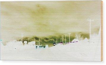 City Limits Wood Print by Max Mullins