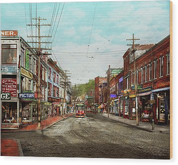 Wood Print featuring the photograph City - Ma Glouster - A Little Bit Of Everything 1910 by Mike Savad