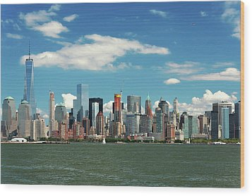 Wood Print featuring the photograph City - New York Ny - The New York Skyline by Mike Savad