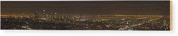 City Of Angels Panorama Wood Print by Brad Scott
