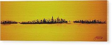 City Of Gold Wood Print
