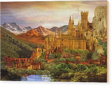 City Of Gold Wood Print by Mary Hood