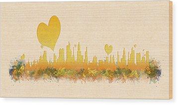City Of Love Wood Print