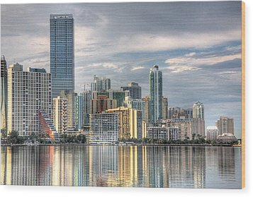 City Of Miami Wood Print by William Wetmore
