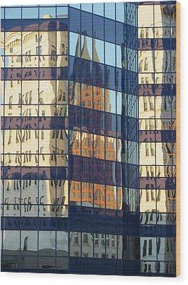 City Reflections 1 Wood Print by Anita Burgermeister