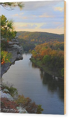City Rock Bluff Wood Print