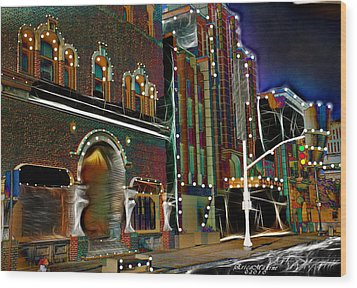 City Scene Wood Print by EricaMaxine  Price