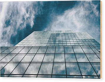 Wood Print featuring the photograph City Sky Light by Jessica Jenney