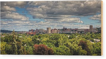 City Skyline Wood Print by Everet Regal