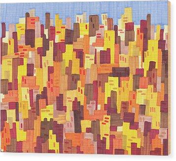 City Sunset Wood Print by Jason Messinger