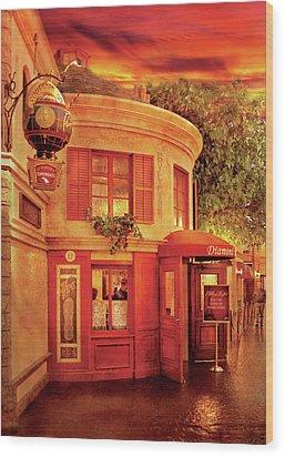 City - Vegas - Paris - Vins Detable Wood Print by Mike Savad