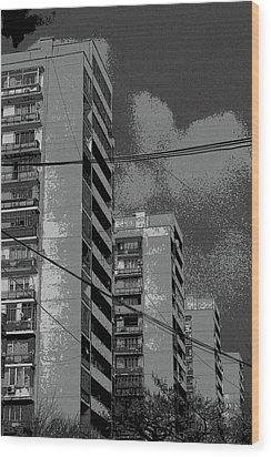 City Wood Print by Yavor Kanchev