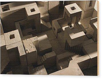 Cityscape 10 Wood Print by David Umemoto