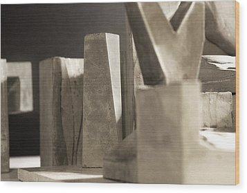 Cityscape 17 Wood Print by David Umemoto