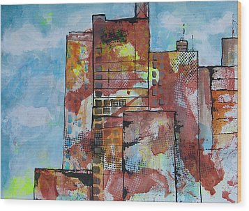 Cityscape 230 Wood Print by Karin Husty
