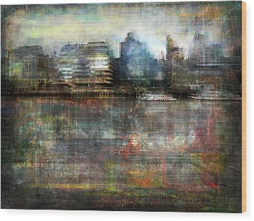 Wood Print featuring the photograph Cityscape #33. Silent Windows by Alfredo Gonzalez