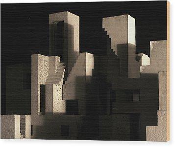 Cityscape 5 Wood Print by David Umemoto