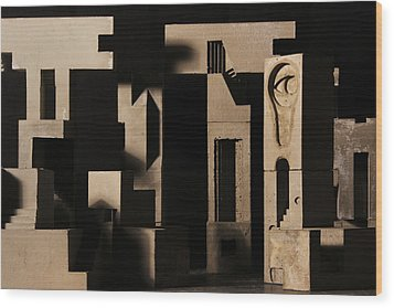 Cityscape 7 Wood Print by David Umemoto